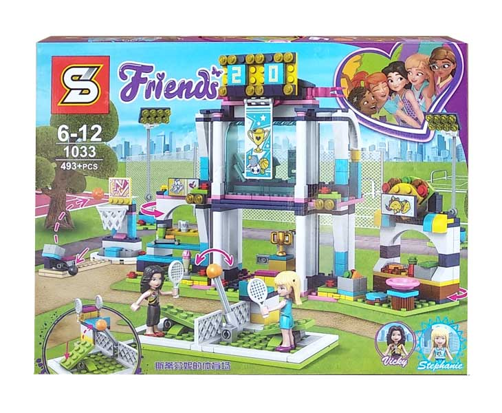 toko mainan online BLOCK FRIENDS VICKY STEPHANIE 493PCS - 1033