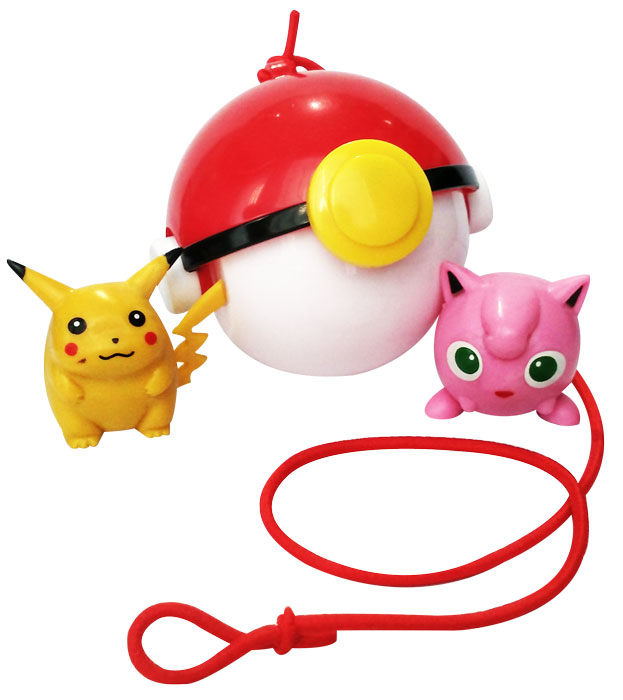 toko mainan online POKEBALL TRAP 7CM + FIGURINE 2PC (gr8)