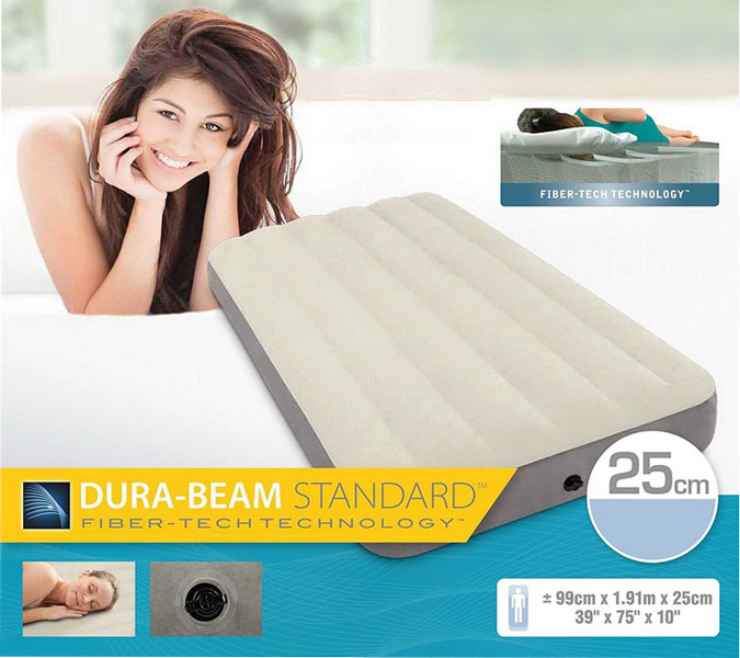 toko mainan online INTEX DB CREAM AIR BED 99CM - 64101