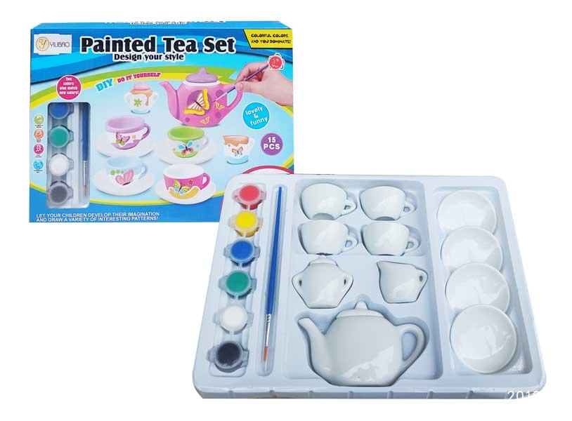 toko mainan online PAINTED TEA SET - 808-4