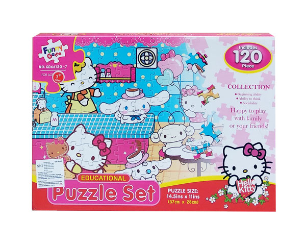 toko mainan online PUZZLE SET HELLO KITTY - GD66120-7