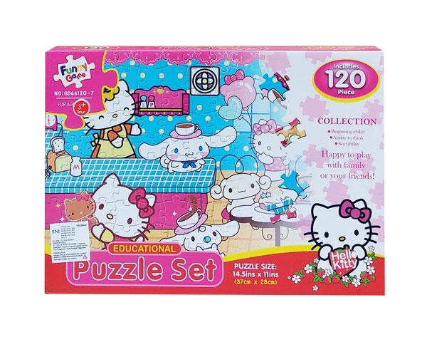 toko mainan online PUZZLE SET HELLO KITTY - GD66120-7