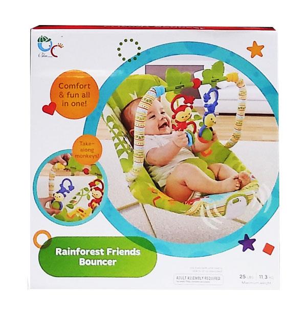 toko mainan online RAINFOREST FRIENDS BOUNCER - 68126