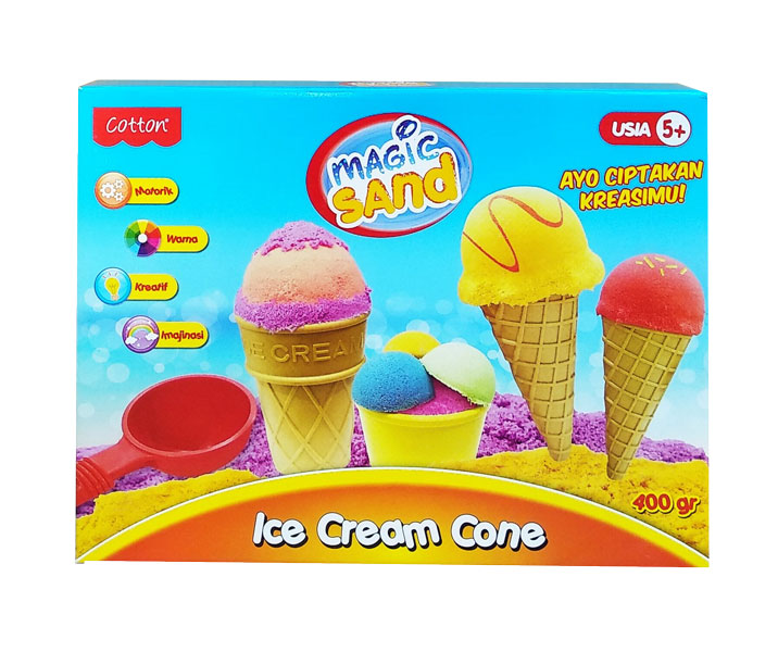 toko mainan online MAGIC SAND ICE CREAM CONE - 49046