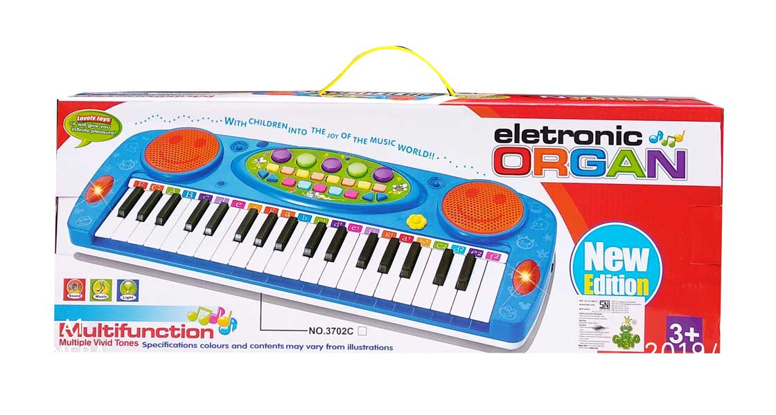 toko mainan online Electronic Organ and Mic Biru 3702A