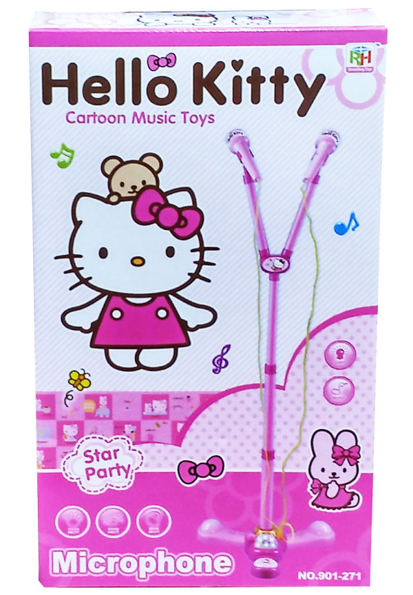 toko mainan online MICROPHONE HELLO KITTY DOUBLE MIC