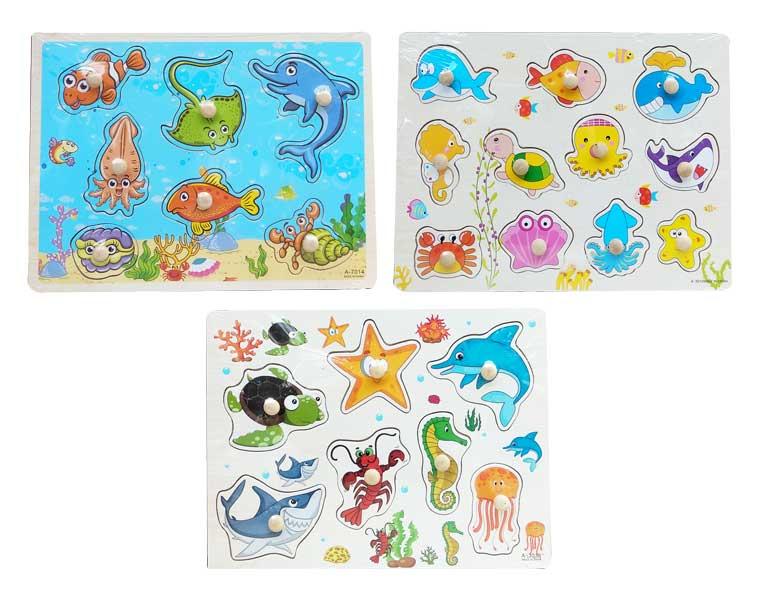 toko mainan online PUZZLE PIN HEWAN LAUT 3036/3012/7014/7013