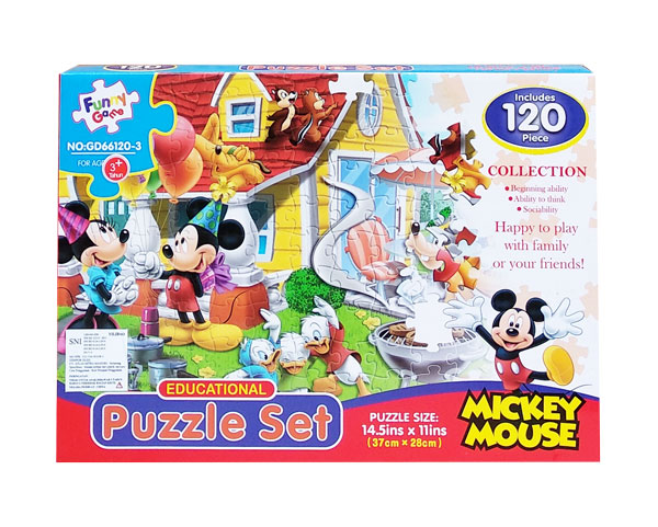 toko mainan online PUZZLE SET MICKEY MOUSE - GD66120-3