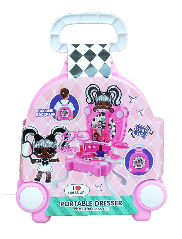 toko mainan online PORTABLE DRESSER LOL - 138