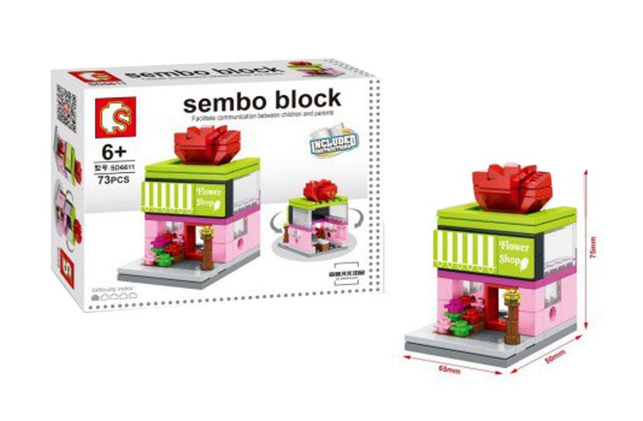 toko mainan online SEMBO BLOCK  FLOWER SHOP 73PCS - SD6611
