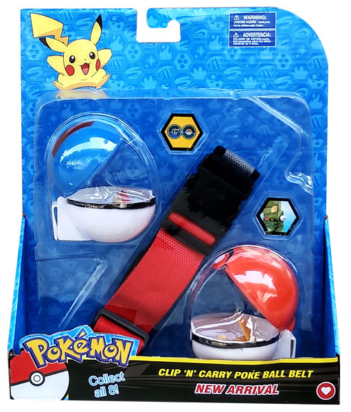 toko mainan online CLIP AND CARRY POKEBALL BELT - 17020