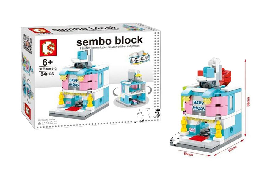 toko mainan online SEMBO BLOCK BABY SHOPS 84PCS - SD6612