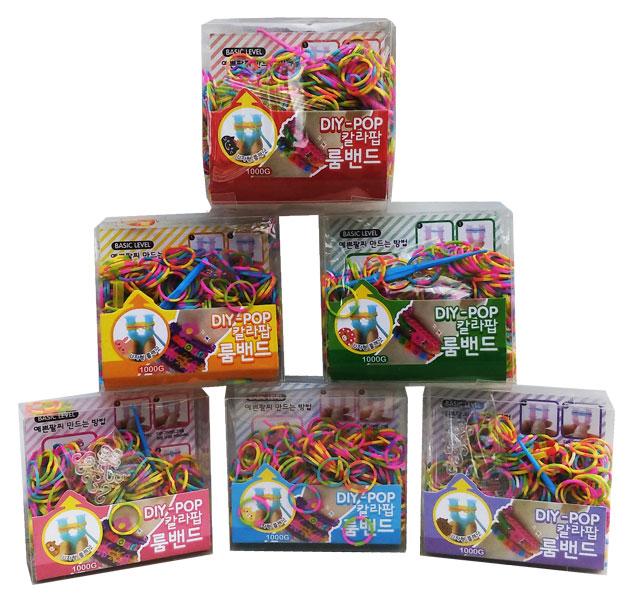toko mainan online ISI LOOM BAND KOTAK+GARPU