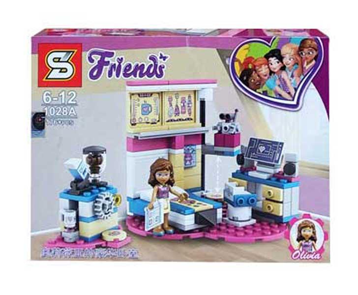 toko mainan online BLOCK FRIENDS OLIVIA 176PCS - 1028A