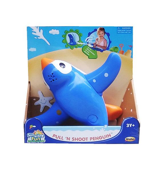 toko mainan online PULL N SHOOT PENGUIN - 7111