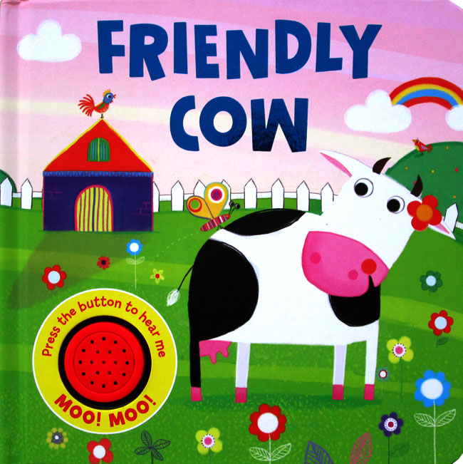 toko mainan online Friendly Cow Sound Boardbook