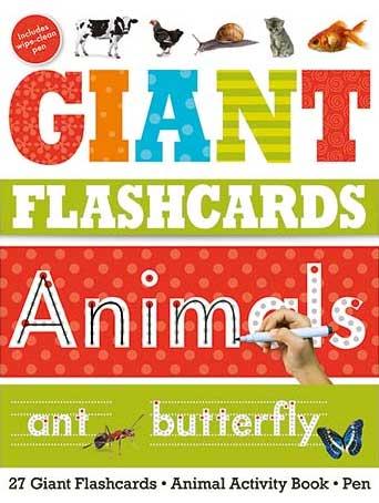 toko mainan online Giant Flashcards Animals (27 Wipe-Clean Flashcards