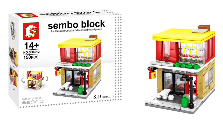 toko mainan online SEMBO MCD 150PC - SD6012
