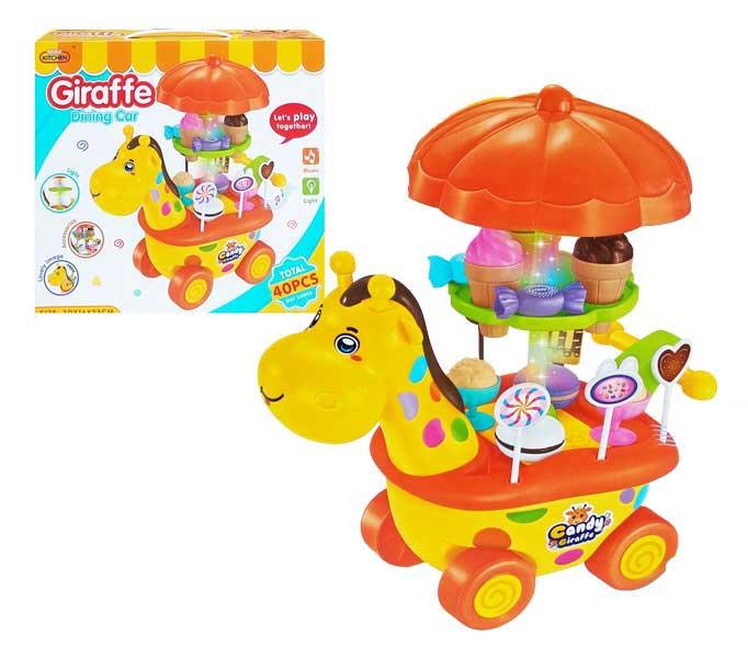 toko mainan online GIRAFFE DINING CAR - 623-C5