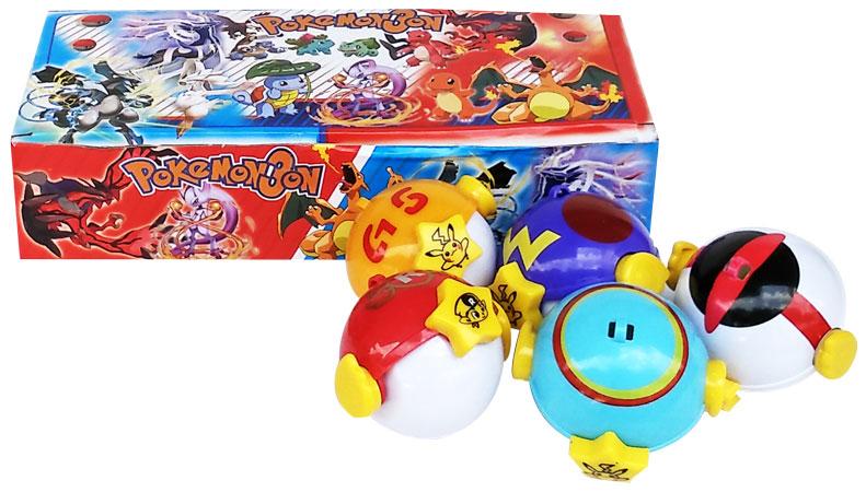 toko mainan online POKEBALL TRAP 7CM + FIGURINE 1PC (gr8)