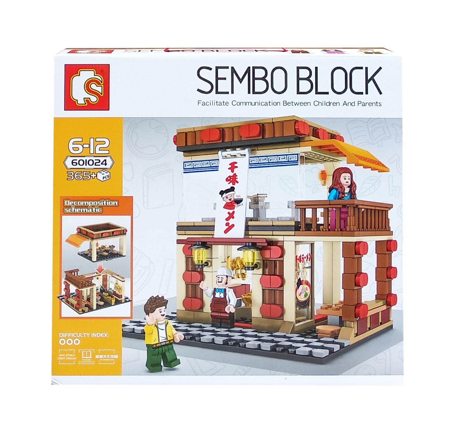 toko mainan online SEMBO BLOCK RESTO 365PCS - 601024