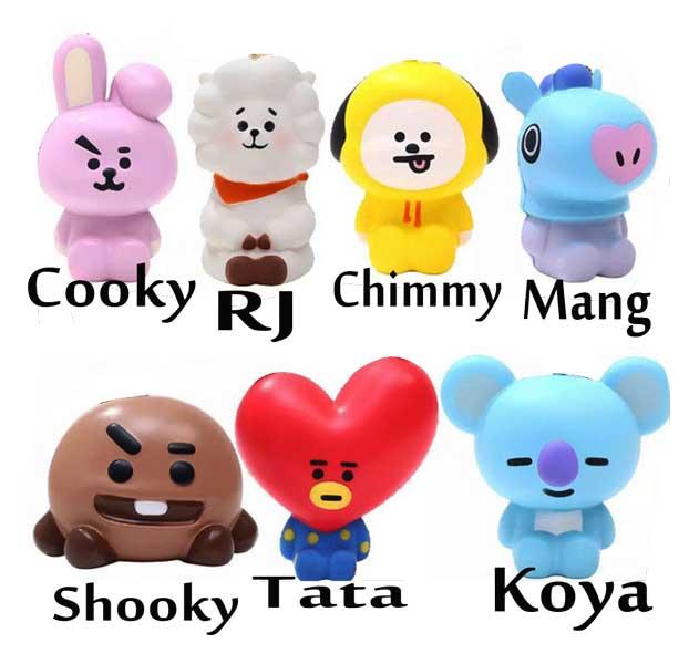 toko mainan online SQUISHY BTS / BT21 - SQ-22