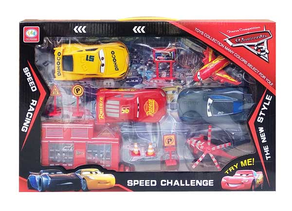 toko mainan online CARS SPEED CHALLENGE - 546-4D