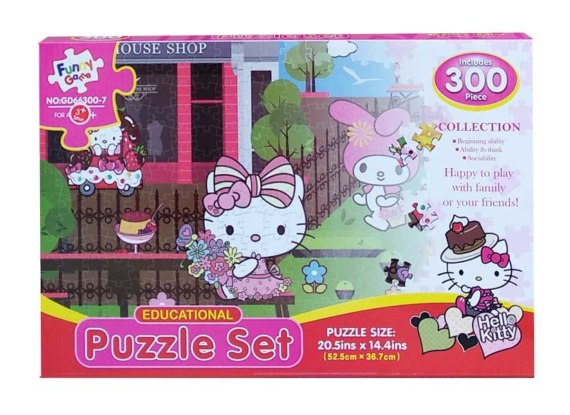 toko mainan online PUZZLE SET KITTY 300PCS - GD66300-7