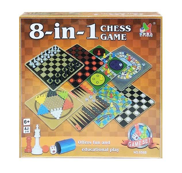 toko mainan online 8 IN 1 CHESS GAME - 858B