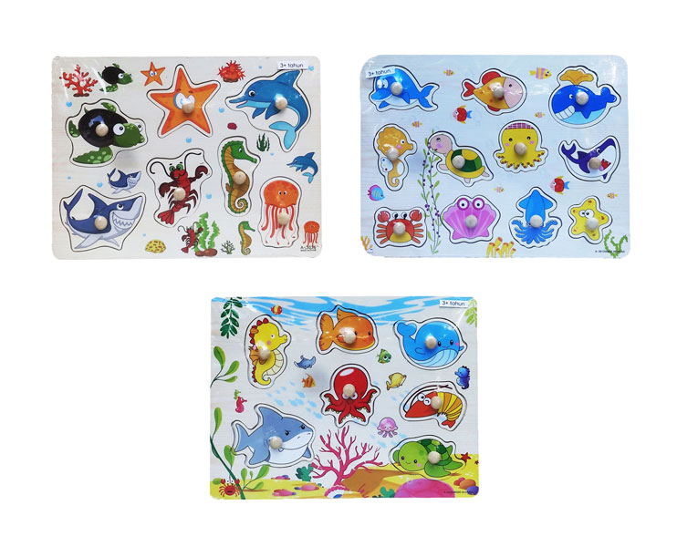 toko mainan online PUZZLE NAIL HEWAN LAUT - DHF71