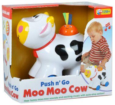 toko mainan online KIDDIELAND PUSH AND GO MOO MOO COW