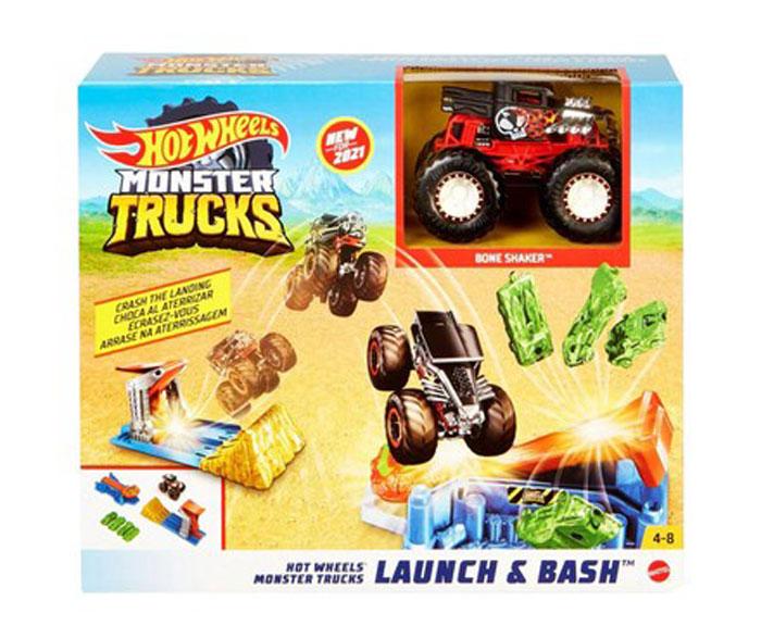toko mainan online HOT WHEELS MONSTER TRUCK LAUNCH & BASH - GVK08