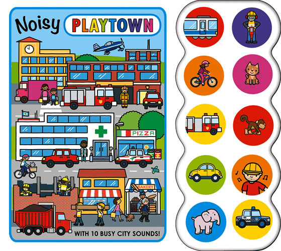 toko mainan online Noisy Playtown with 10 busy city sounds