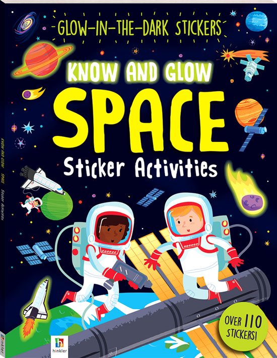 toko mainan online SPACE Glow-in-the-dark Sticker - 35008