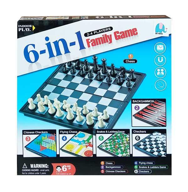 toko mainan online 6 IN 1 FAMILY GAME - S4404
