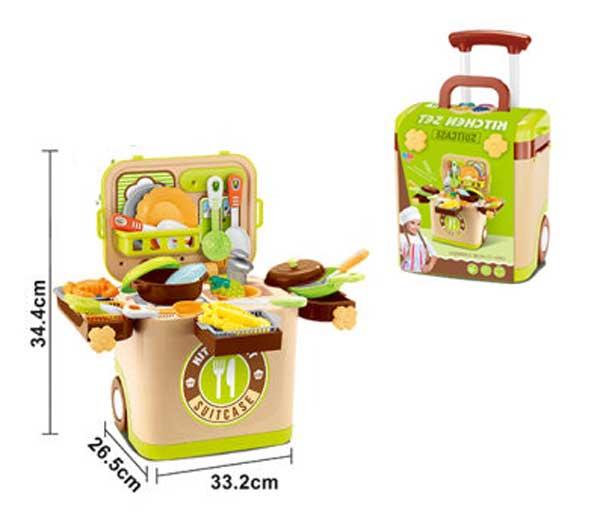 toko mainan online KITCHEN SET SUITCASE - L666-36A