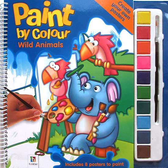 toko mainan online Paint by Colour Wild Animals - Painting Book