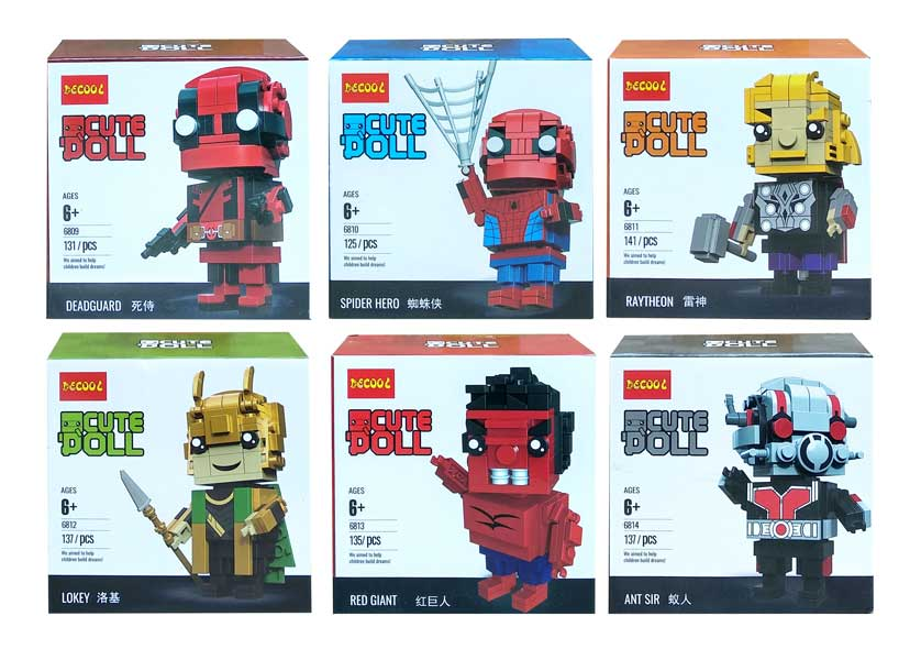toko mainan online DECOOL CUTE DOLL MIX SATUAN - 6809-14