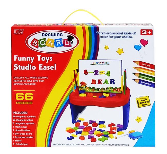 toko mainan online Funny Toys Studio Easel 66pcs - 5980A