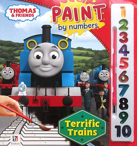 toko mainan online Thomas Paint by Numbers Terrific Train