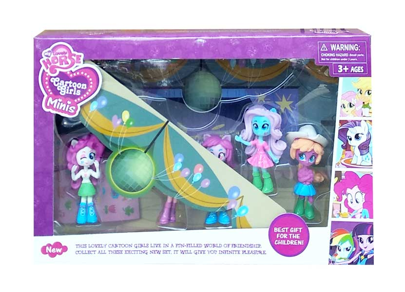 toko mainan online LOVELY HORSE CARTOON GIRLS MINIS - 8029A