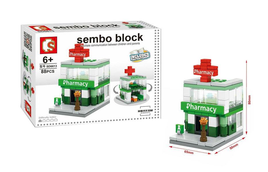 toko mainan online SEMBO BLOCK PHARMACY 88PCS - SD6613