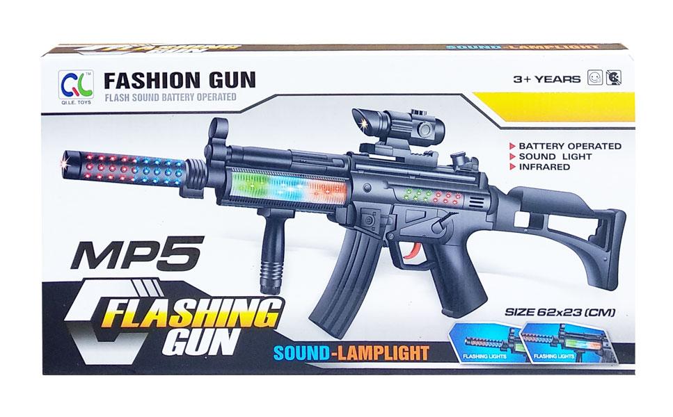 toko mainan online FLASING GUN MP5 - QL-002