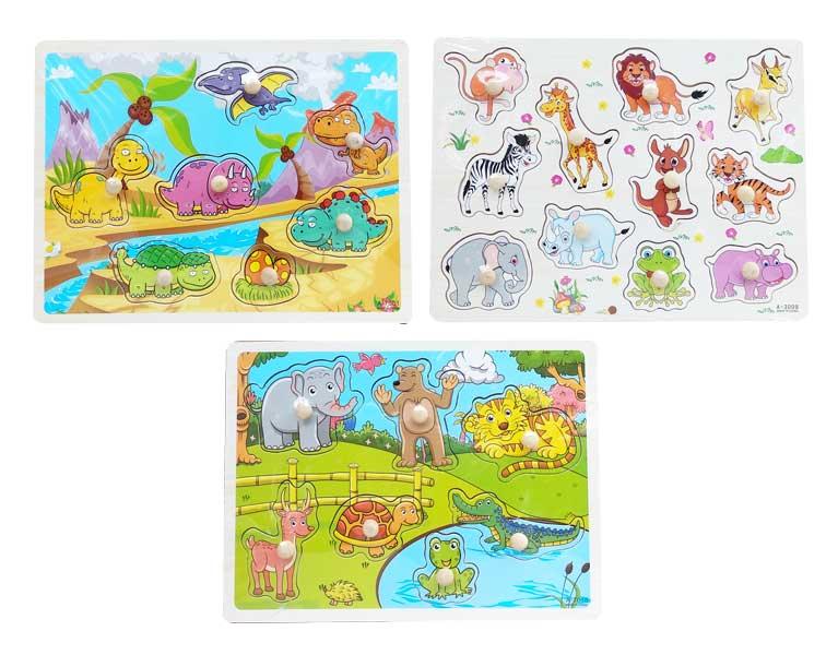 toko mainan online PUZZLE PIN HEWAN 7018/3009/7001