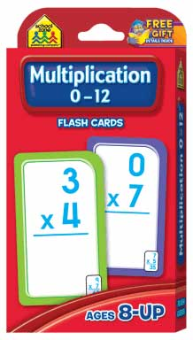toko mainan online School Zone Multiplication 0-12 Flash Cards