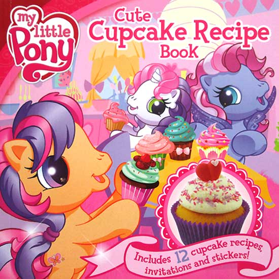 toko mainan online My Little Pony Cute Cupcake Recipe Book includes 12 cupcake recipes, invitations and stickers!