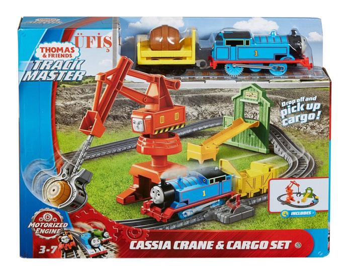toko mainan online THOMAS CASSIA CRANE & CARGO SET - GHK83