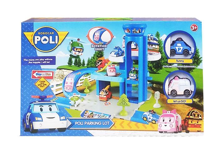 toko mainan online ROBOCAR POLI PARKING LOT-XZ-319