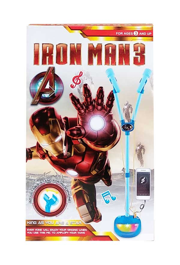 toko mainan online MICROPHONE DOUBLE IRON MAN - 5008