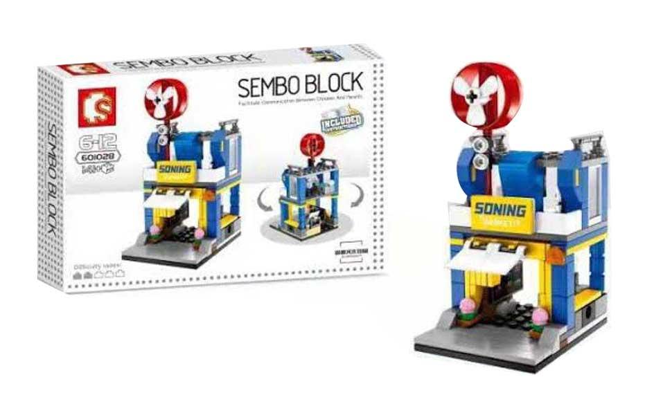 toko mainan online SEMBO SONING MARKET 141PCS - 601028